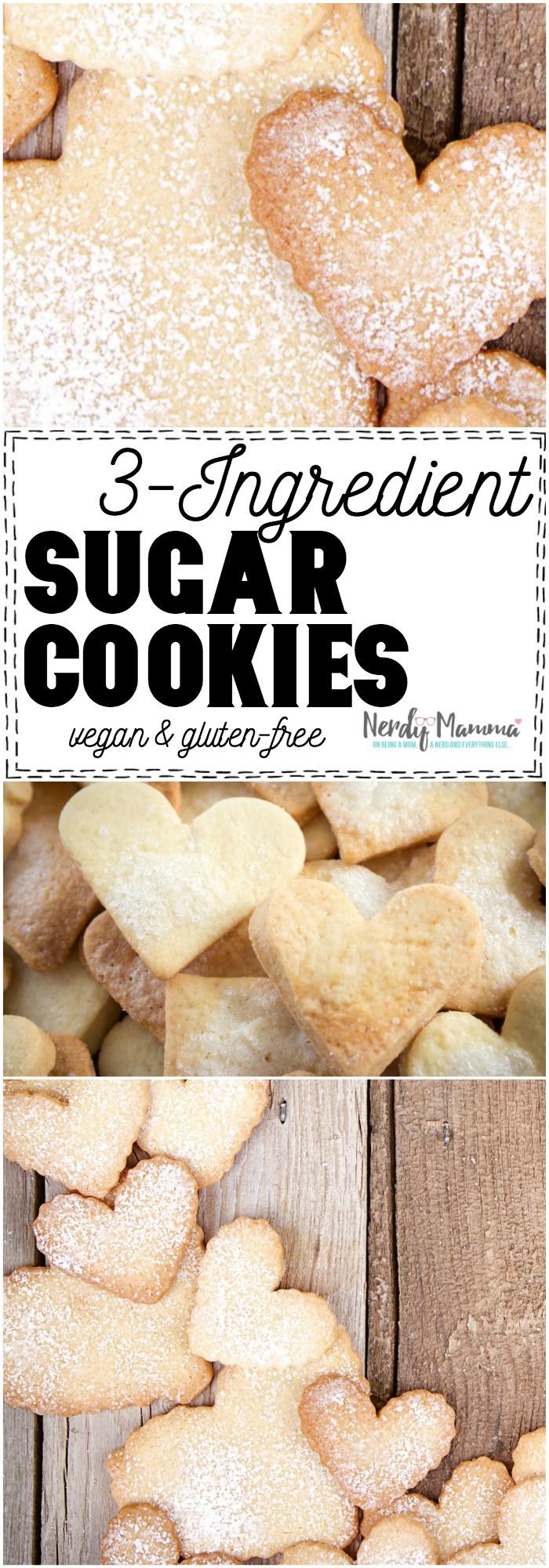 3 Ingredient Sugar Cookies  3 Ingre nt Sugar Cookies Nerdy Mamma