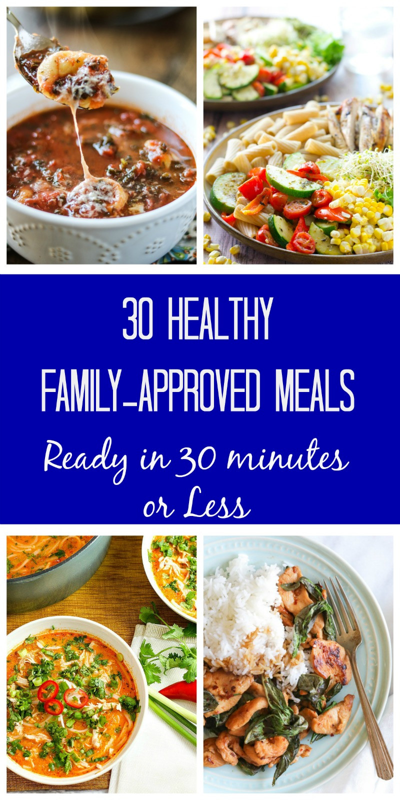 30 Minute Dinners  30 Meals Made in 30 Minutes A Month of 30 Minute Meals