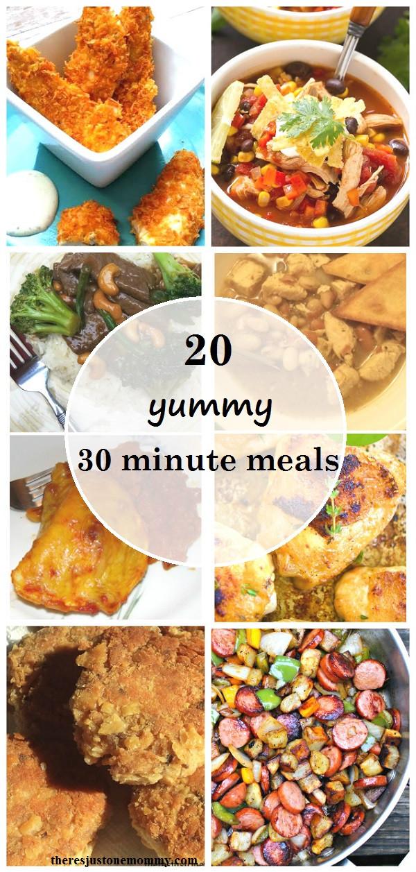 30 Minute Dinners  30 Minute Dinner Ideas