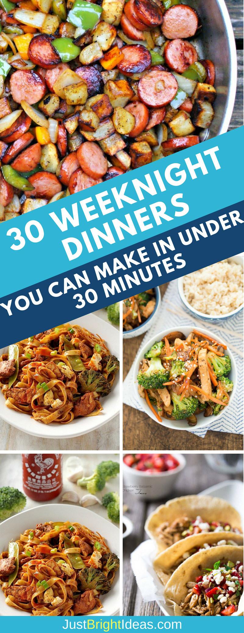 30 Minute Dinners  Best 30 Minute Dinner Recipes Easy Midweek Meals