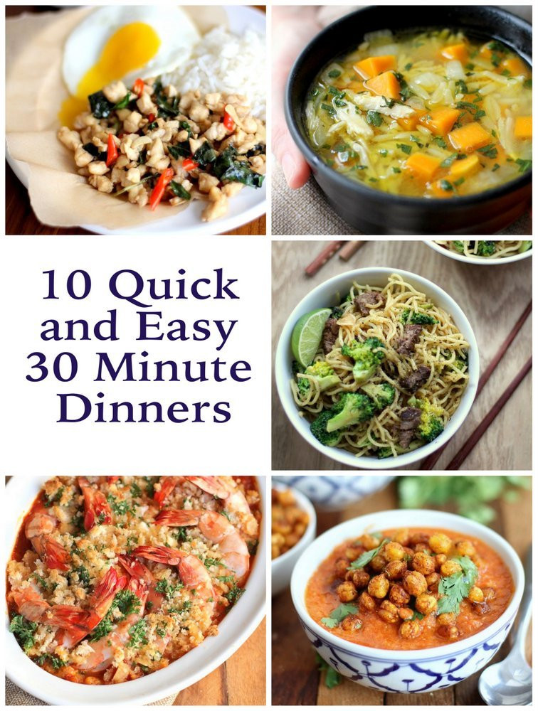 30 Minute Dinners  10 Quick and Easy 30 Minute Dinners Inquiring Chef