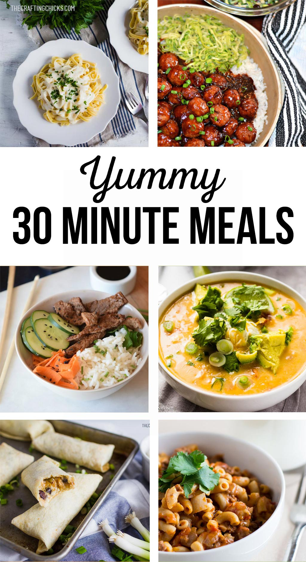 30 Minute Dinners  30 Minute Meals The Crafting Chicks