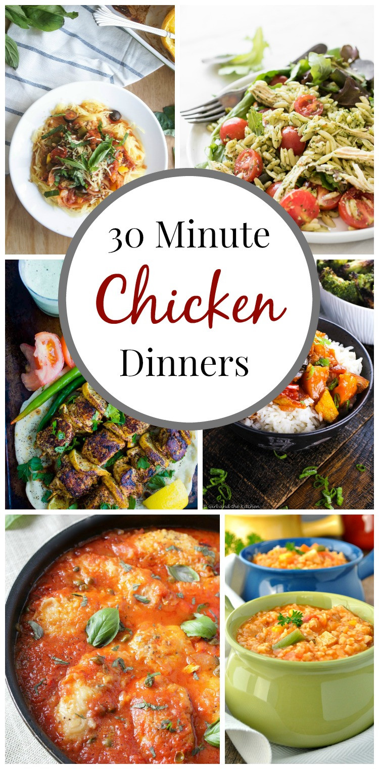 30 Minute Dinners  Top Ten 30 Minute Chicken Dinners simply fresh dinners