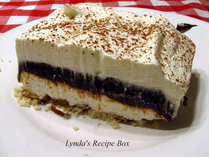 4 Layer Chocolate Dessert  Four layer pudding dessert family recipes Recipe Petitchef
