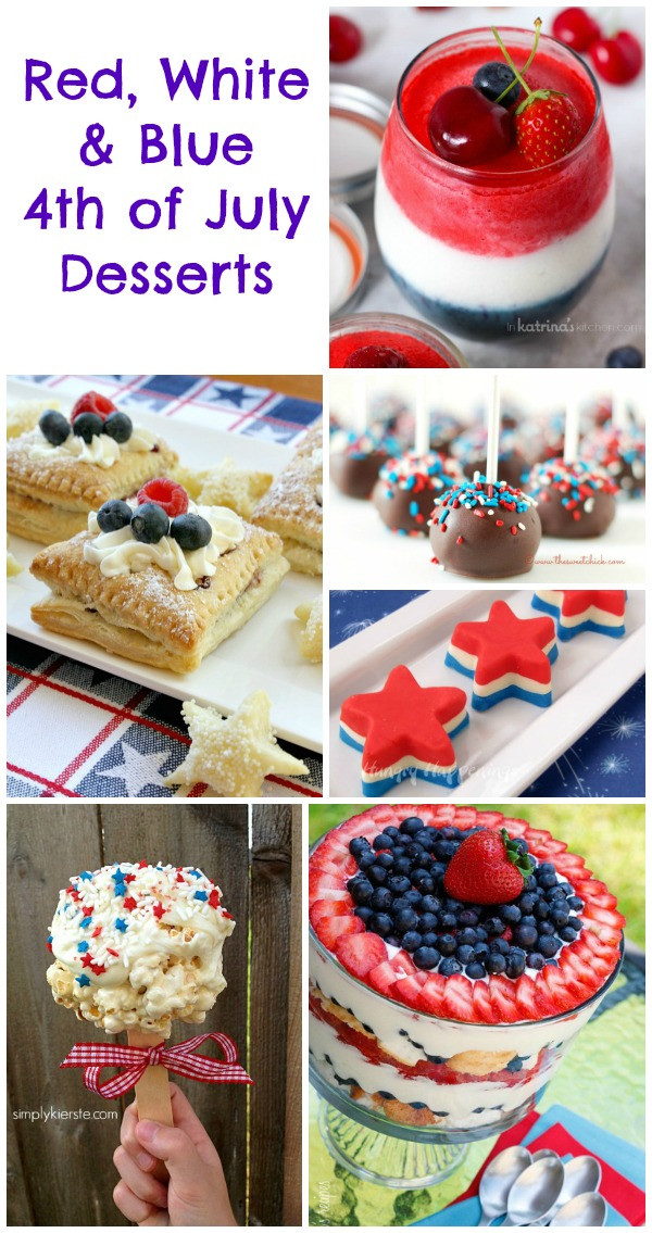 4 Of July Dessert  4th of July Desserts Red White & Blue Treats