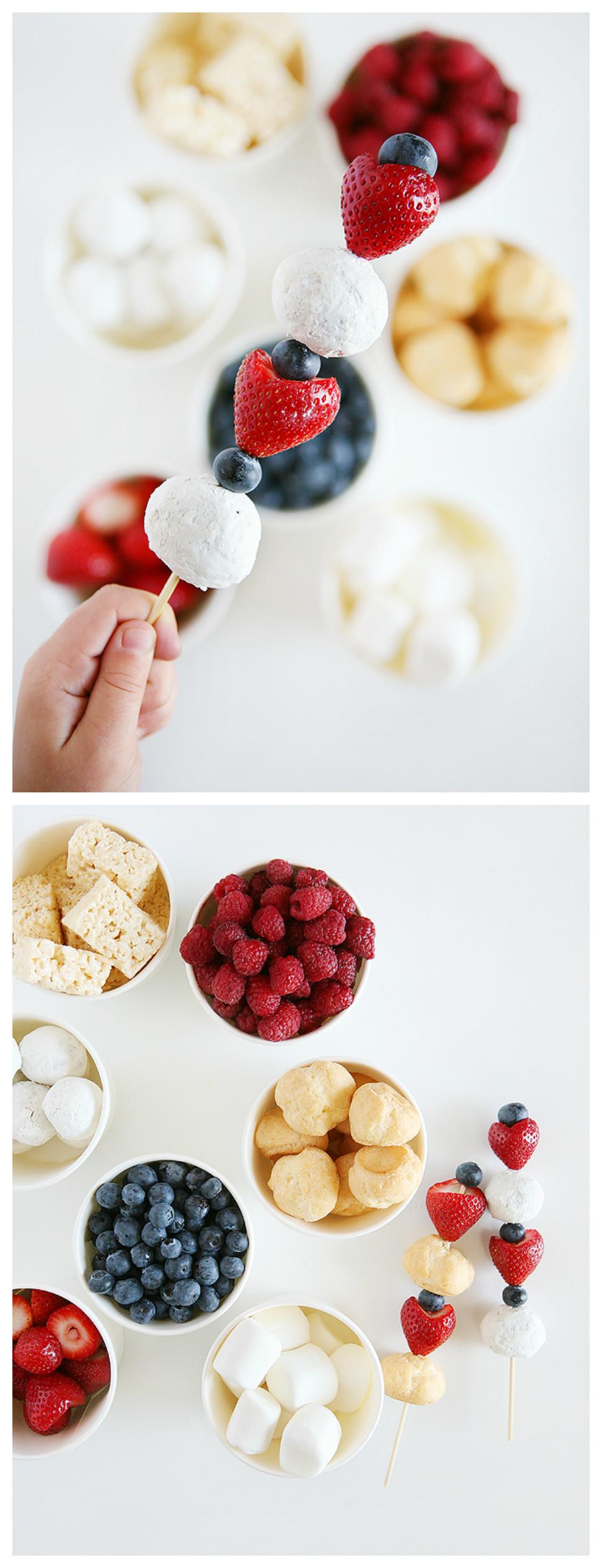 4 Of July Dessert  4th of July Dessert Kabobs Eighteen25