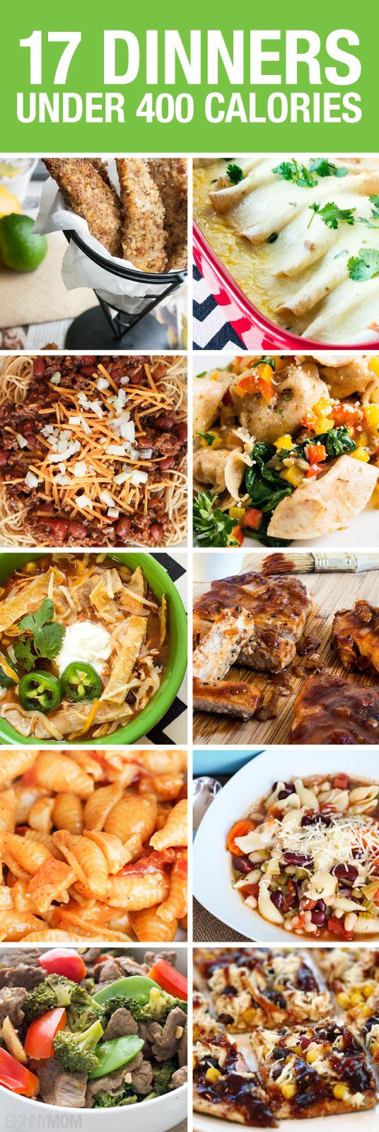 400 Calorie Dinners  Weve got 17 recipes for you that are under 400 calories