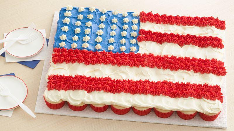4Th Of July Cake Recipes  Fourth of July Flag Cake Recipe BettyCrocker