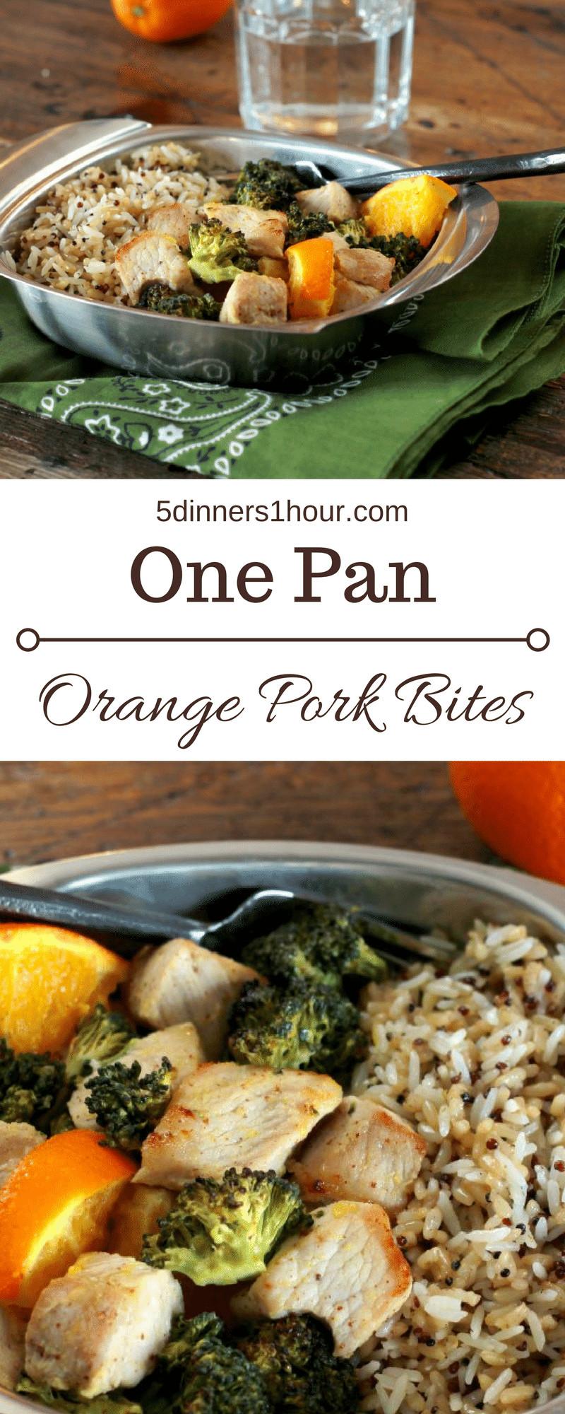 5 Dinners In 1 Hour  e Pan Orange Pork Bites 5 Dinners In 1 Hour