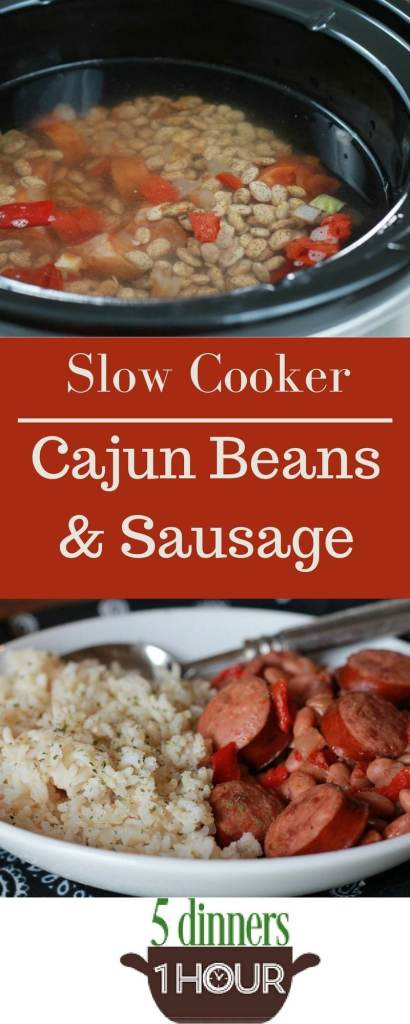 5 Dinners In 1 Hour  Slow Cooked Cajun Beans 5 Dinners In 1 Hour