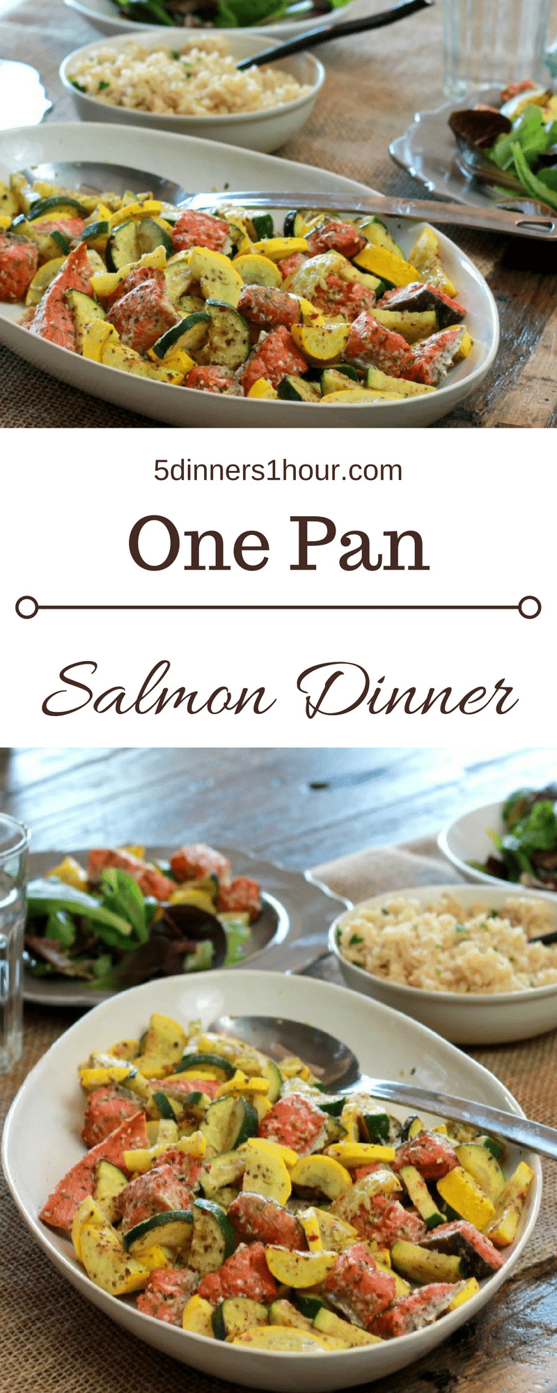 5 Dinners In 1 Hour  5 Minute Quick Salmon Dinner 5 Dinners In 1 Hour