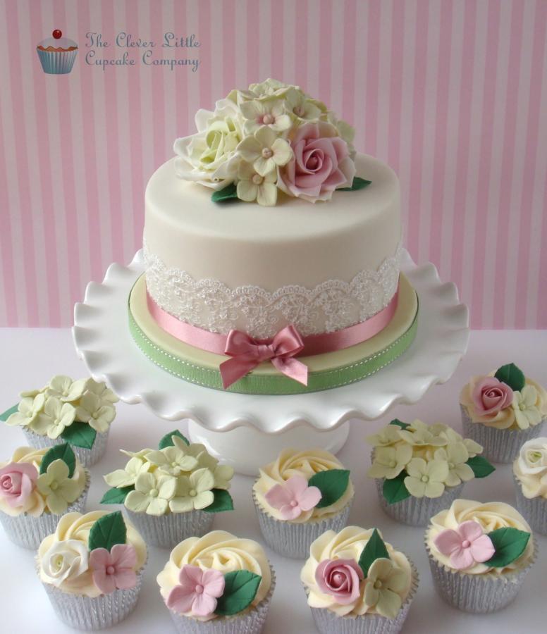 90Th Birthday Cake  Roses and Hydrangeas 90th Birthday Cake cake by The