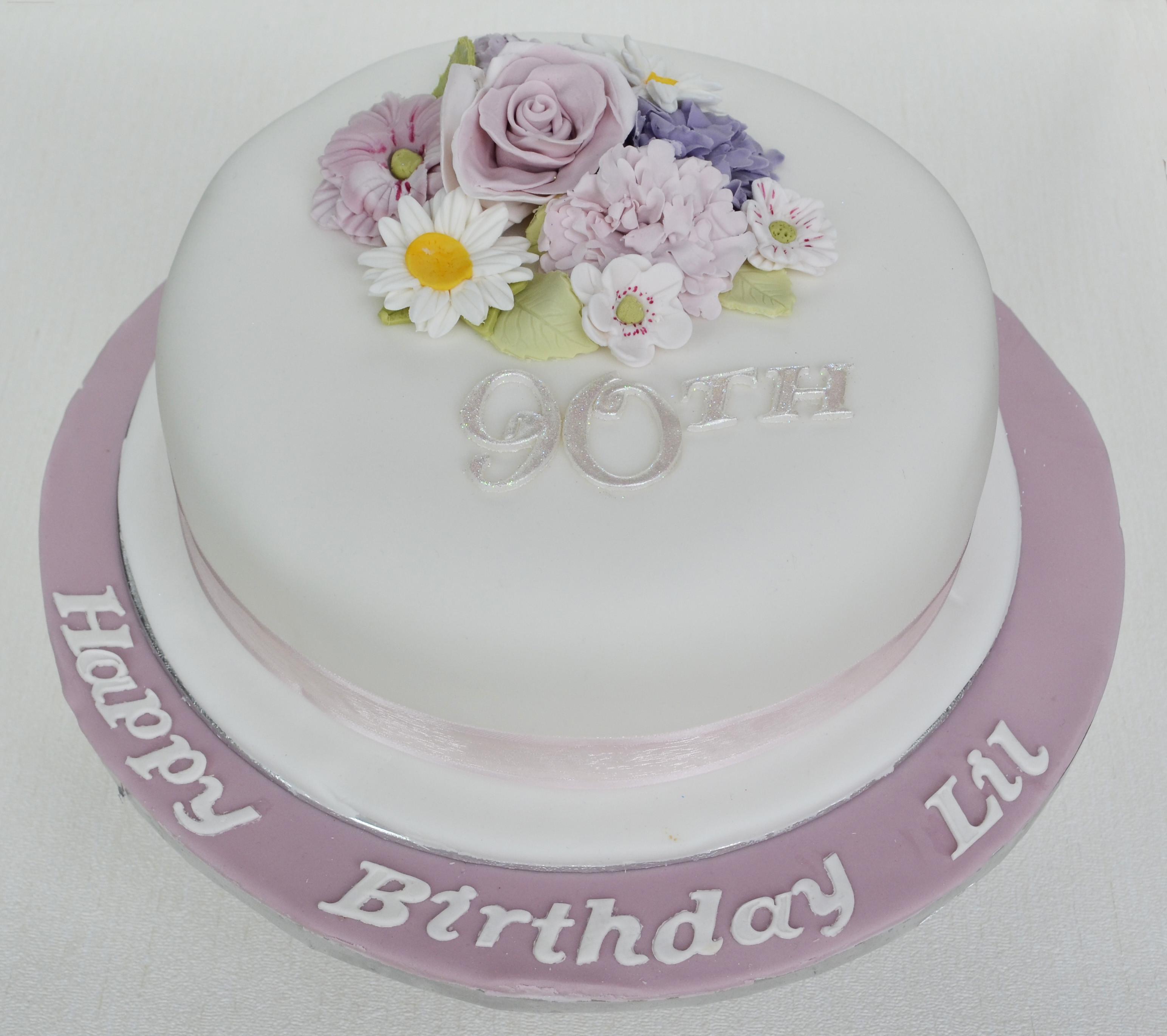 90Th Birthday Cake  Pretty Birthday Cakes The Candy Cake pany