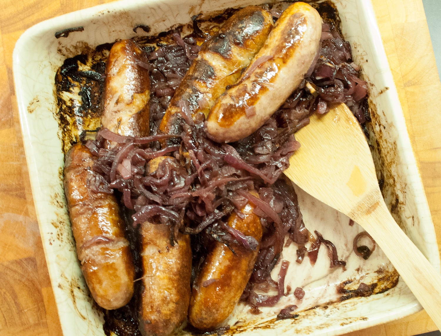 A Dinner Of Onions  Sausages with ion Marmalade