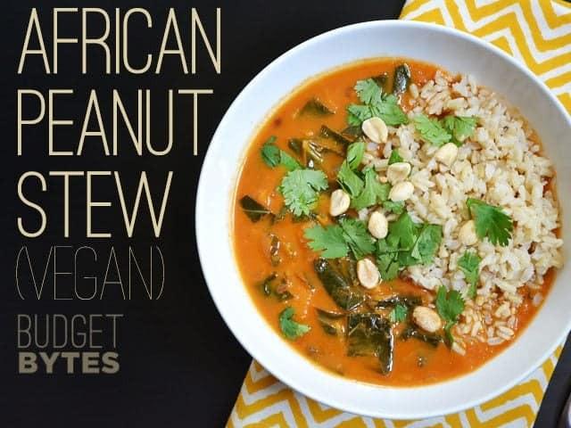 African Peanut Stew  African Peanut Stew vegan Bud Bytes