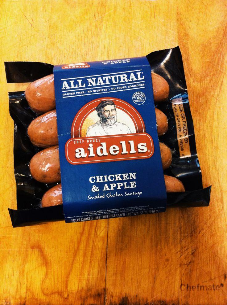 Aidells Chicken Apple Sausage  Aidells All Natural Chicken & Apple Sausage Found at