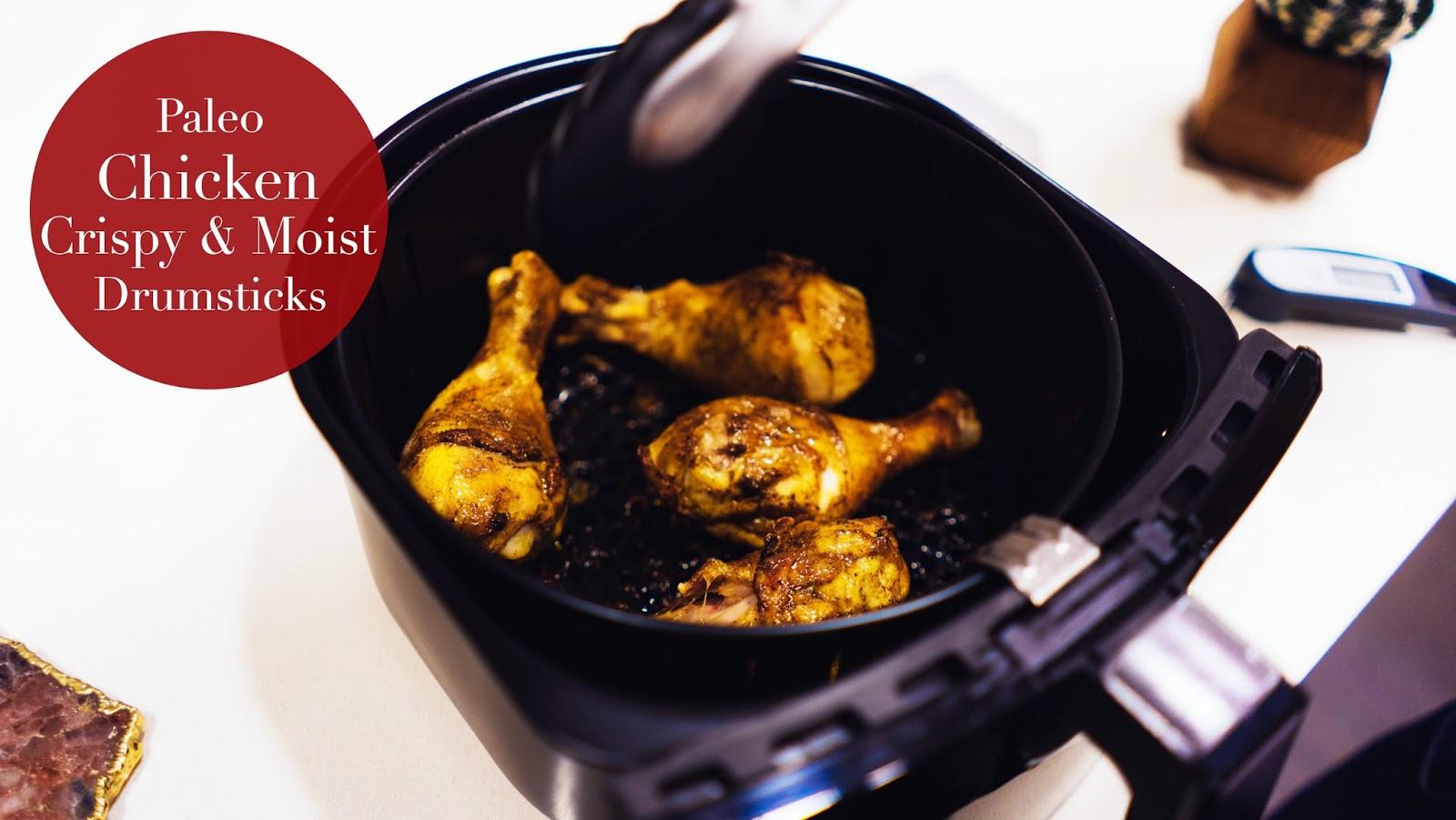 Air Fryer Chicken Thighs  Julia Caban Blog Air Fryer Fried Paleo Chicken Drumsticks