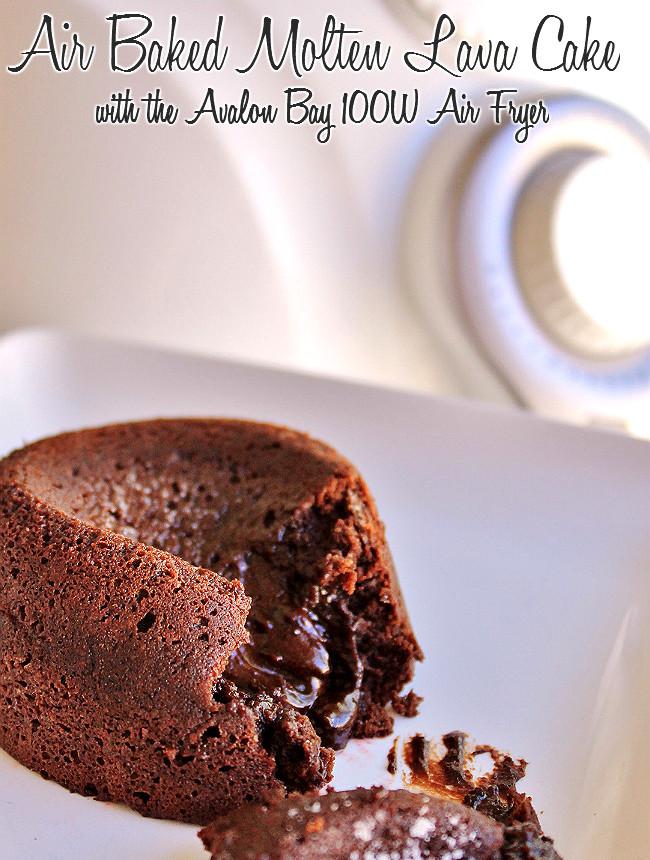 Air Fryer Dessert Recipes  Momma Told Me Blog POP Air Baked Molten Lava Cake Recipe