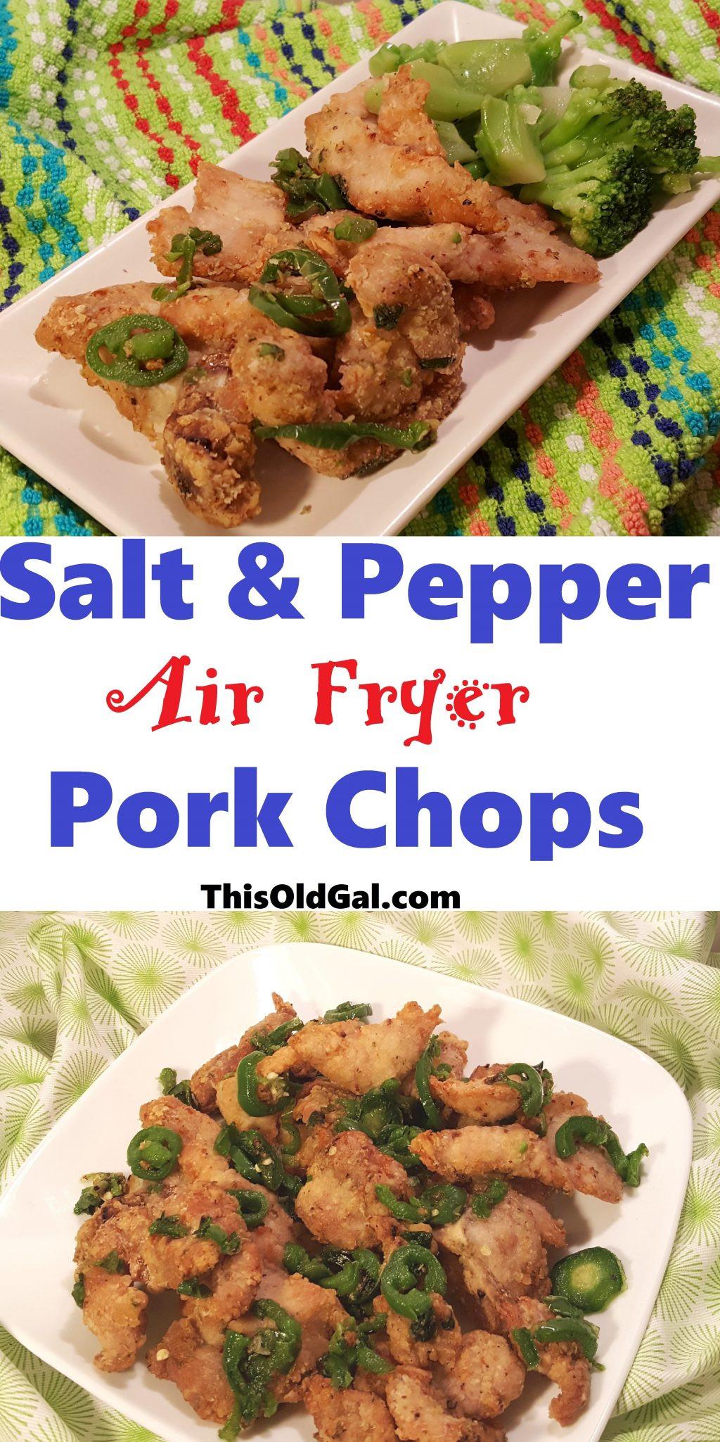 Air Fryer Pork Chops  Air Fryer Chinese Salt and Pepper Pork Chops