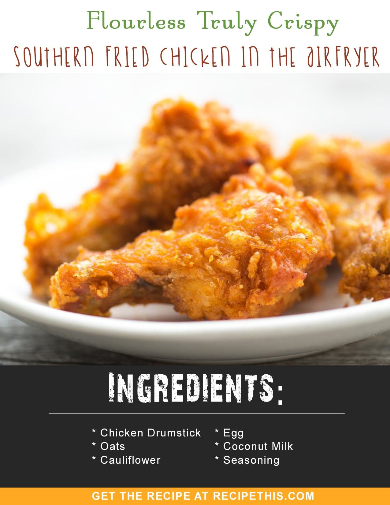Air Fryer Recipes Fried Chicken  Flourless Truly Crispy Southern Fried Chicken In The Air