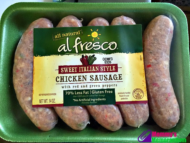 Al Fresco Chicken Sausage  Al Fresco All Natural Sausages Goodness You Can See
