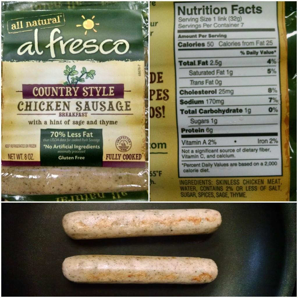 Al Fresco Chicken Sausage  WIAW 2nd and Last Maternity Edition