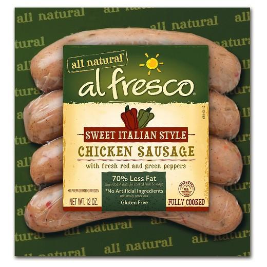 Al Fresco Chicken Sausage  Al Fresco Sundried Tomato & Basil Fully Cooked Chicken