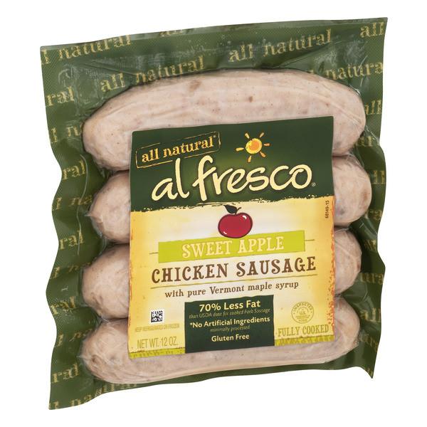 Al Fresco Chicken Sausage  Al Fresco All Natural Chicken Sausage Sweet Apple 12OZ