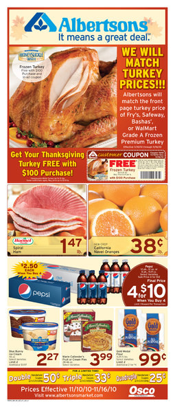 Albertsons Thanksgiving Dinners  Alicias Deals in AZ – Search Results – local dines