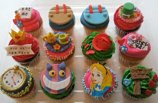 Alice In Wonderland Cupcakes  Disney's Alice in Wonderland Cupcake Tower