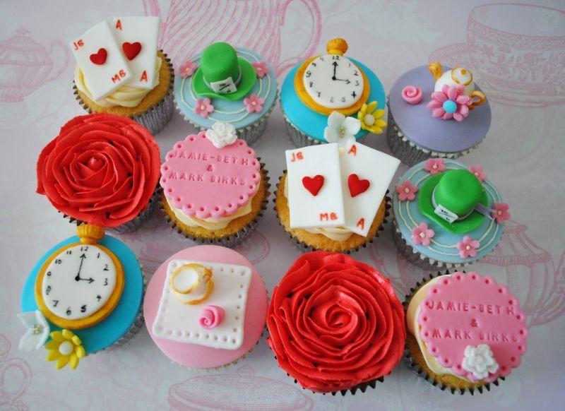Alice In Wonderland Cupcakes  Miss Cupcakes Cake Maker in Shepherds Bush London UK