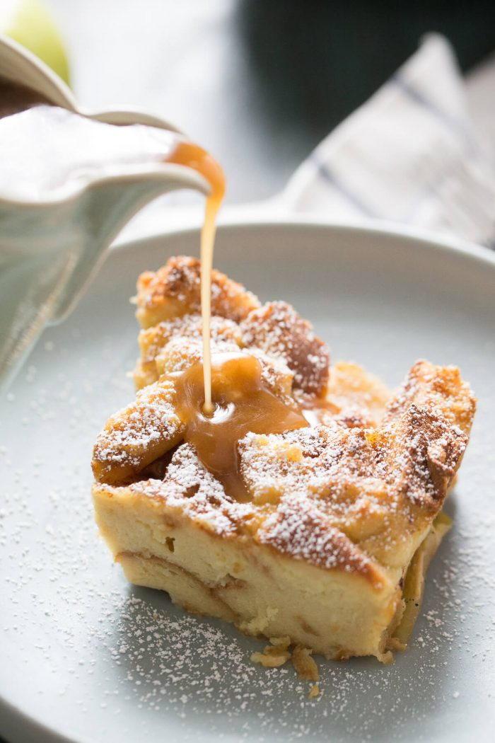 All Recipes Desserts  Apples Foster Bread Pudding Recipe