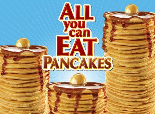 All You Can Eat Pancakes  National Pancake Day Should Be Every Day Steak n Shake