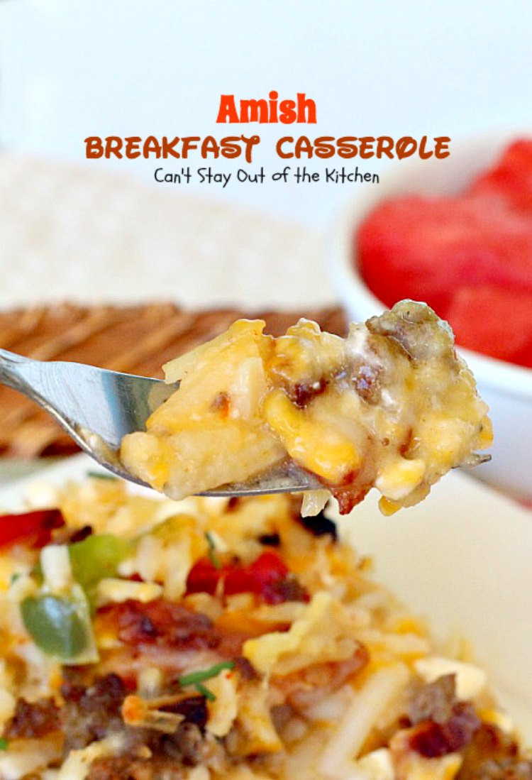 Allrecipes Breakfast Casseroles  Amish Breakfast Casserole Can t Stay Out of the Kitchen
