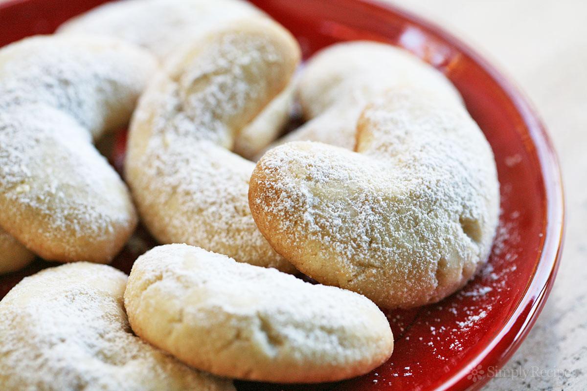 Almond Cookies Recipe  Almond Crescent Cookies Recipe