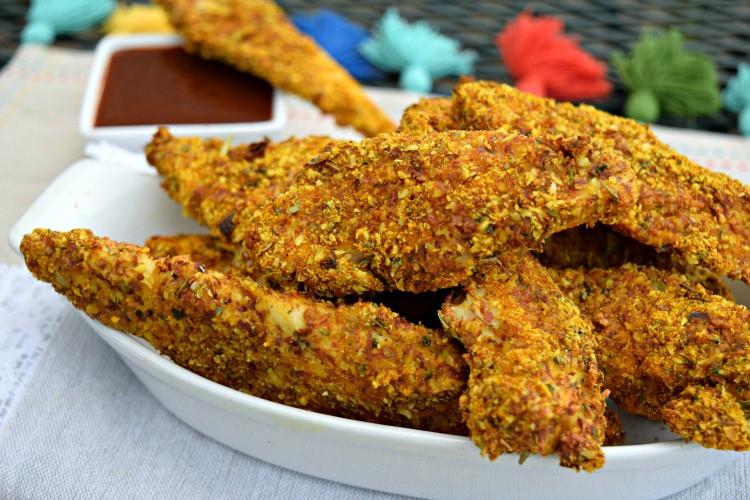 Almond Flour Chicken Tenders  Baked Turmeric Almond Chicken Tenders – Paleo & Gluten