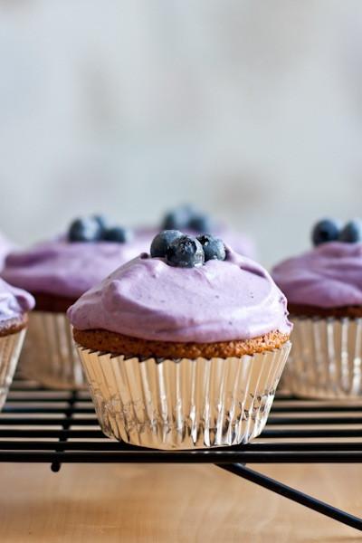 Almond Flour Cupcakes  lemon almond flour cupcakes with blueberry whipped cream
