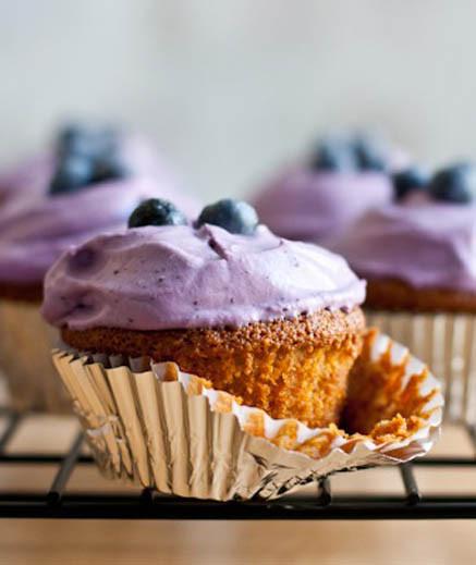 Almond Flour Cupcakes  Almond Flour Lemon Cupcakes with Blueberry Whipped Cream