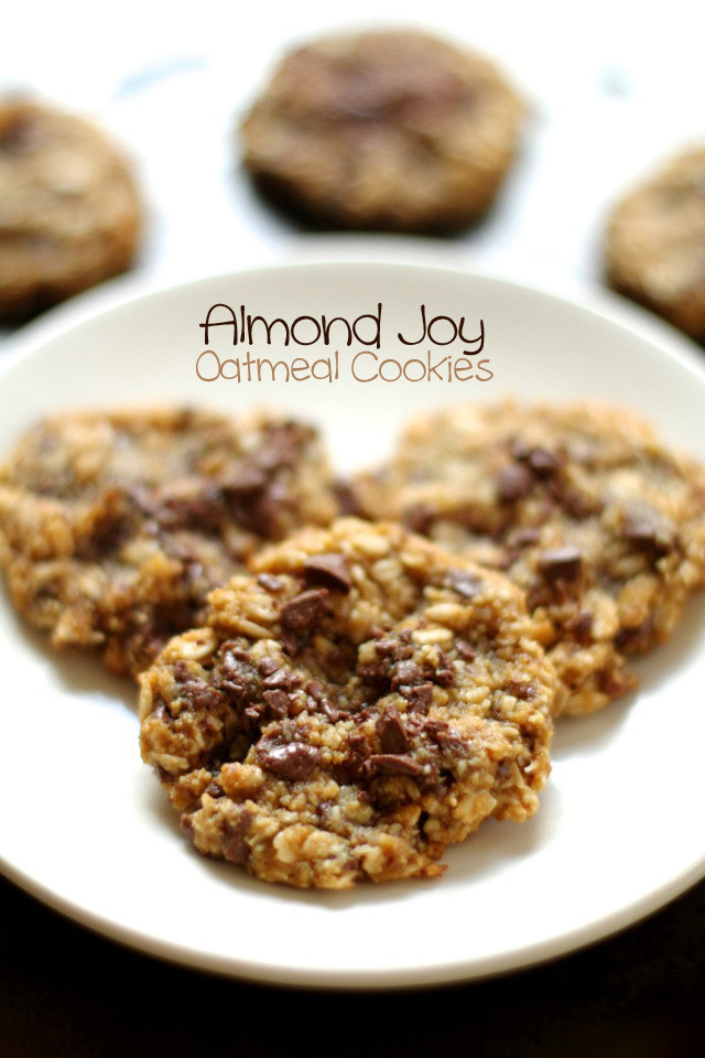 Almond Flour Oatmeal Cookies  Almond Joy Oatmeal Cookies