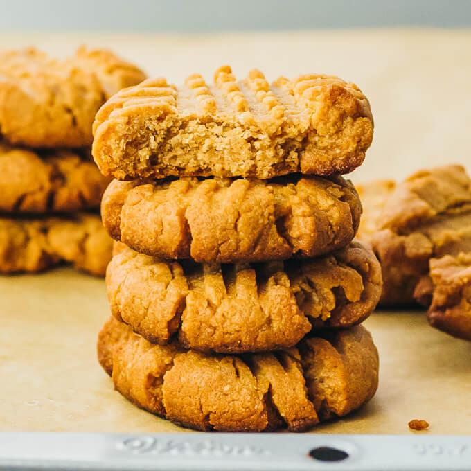 Almond Flour Peanut Butter Cookies  Keto Peanut Butter Cookies with Almond Flour or Coconut Flour