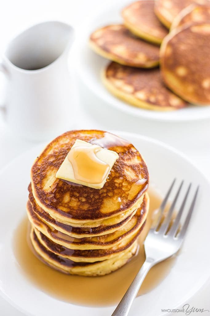 Almond Meal Pancakes  Keto Low Carb Pancakes Recipe with Almond Flour & Coconut