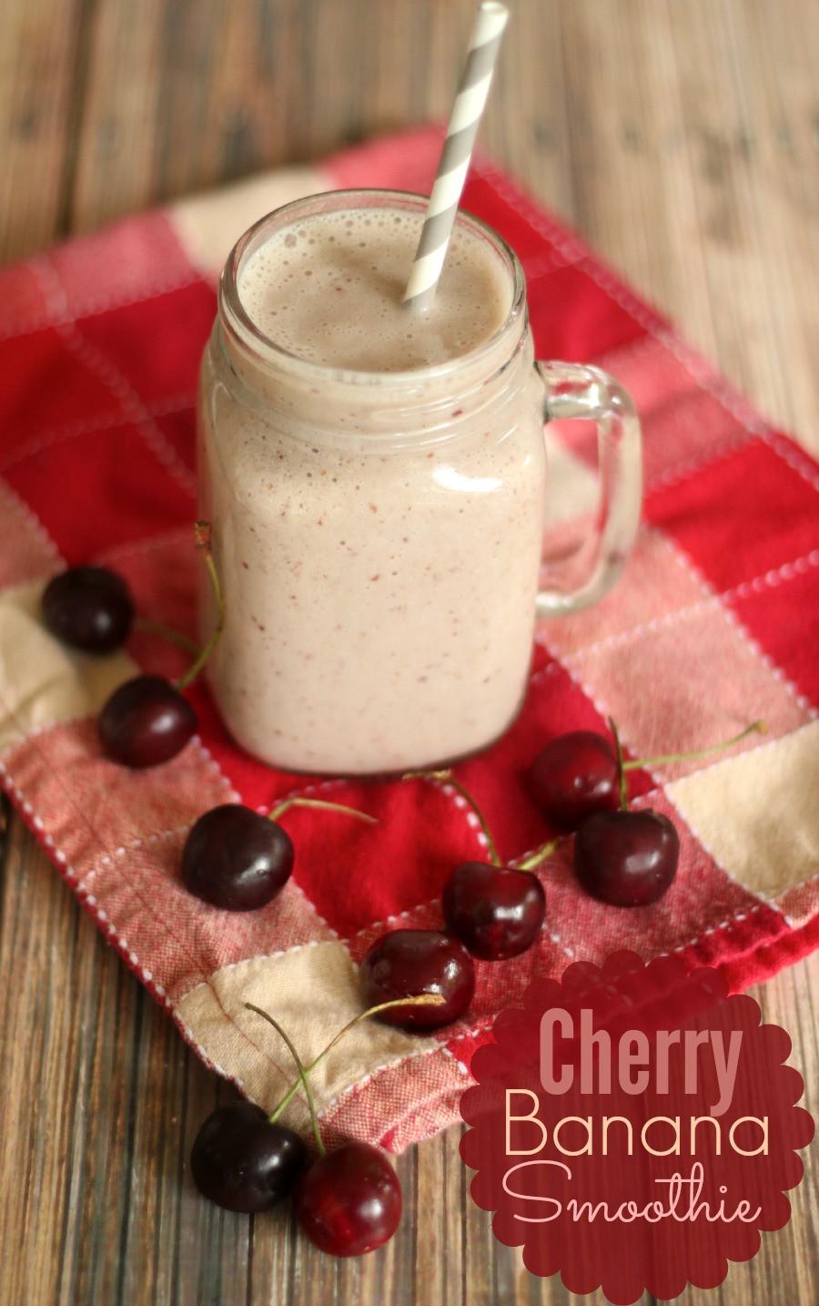Almond Milk Smoothies  Cherry Banana Almond Milk Smoothie