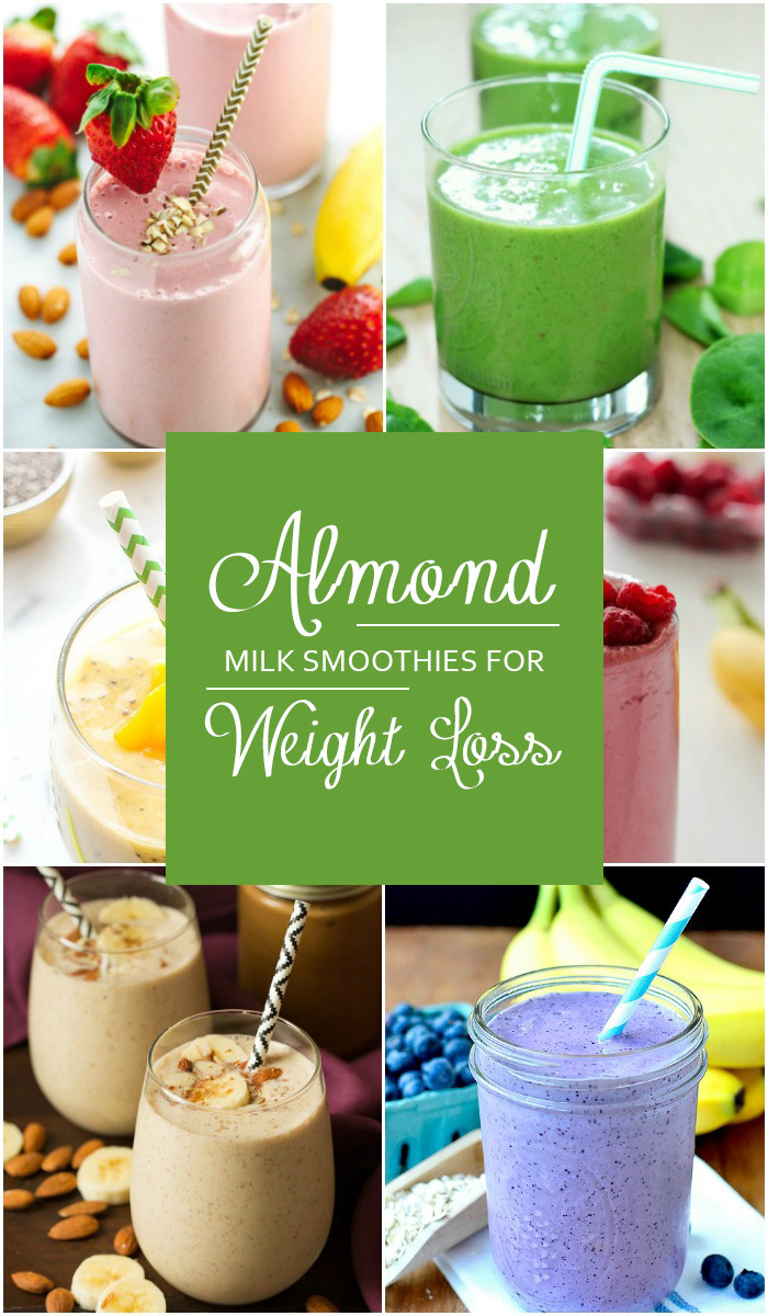 Almond Milk Smoothies  almond milk smoothie weight loss