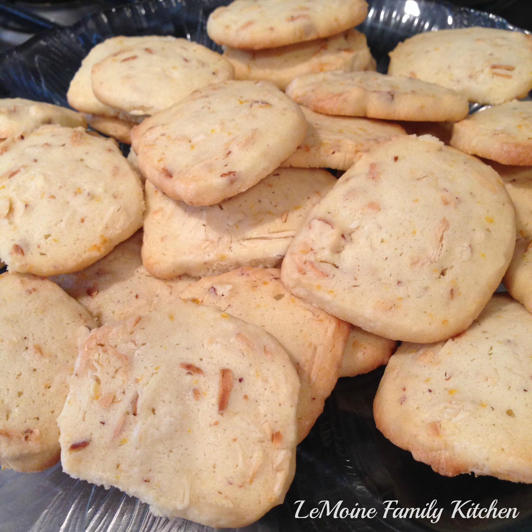 Almond Shortbread Cookies  Lemon Almond Shortbread Cookies LeMoine Family Kitchen