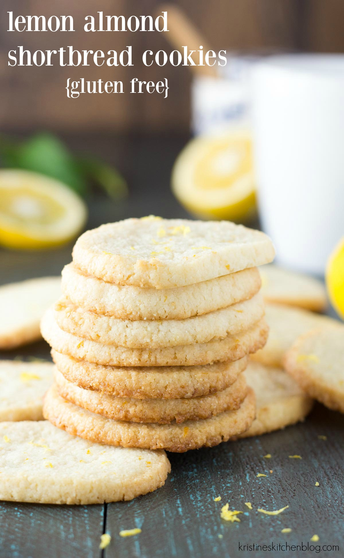 Almond Shortbread Cookies  Lemon Almond Shortbread Cookies Gluten Free Kristine s