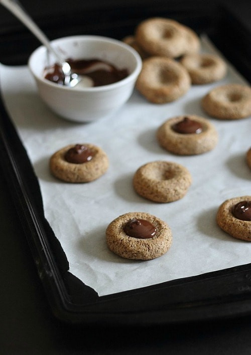 Almond Thumbprint Cookies  30 Healthy Cookie Recipe Roundup Yummy Healthy Easy