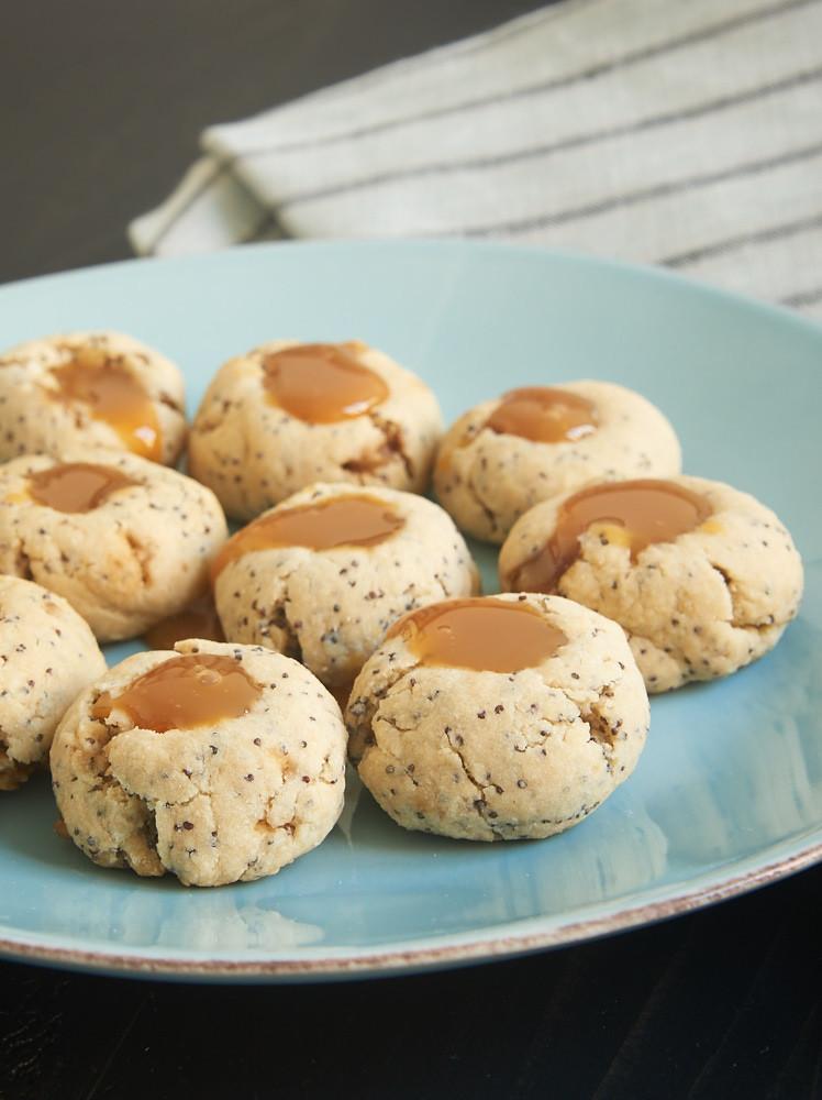Almond Thumbprint Cookies  Almond Poppy Seed Thumbprint Cookies Bake or Break