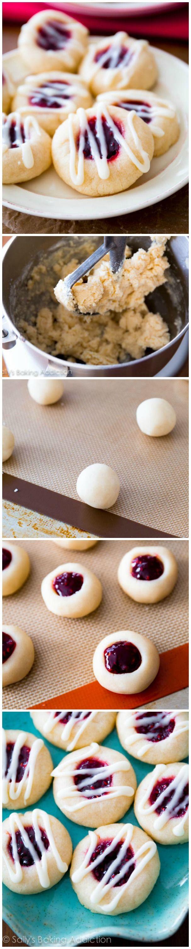 Almond Thumbprint Cookies  Raspberry Almond Thumbprint Cookies Sallys Baking Addiction