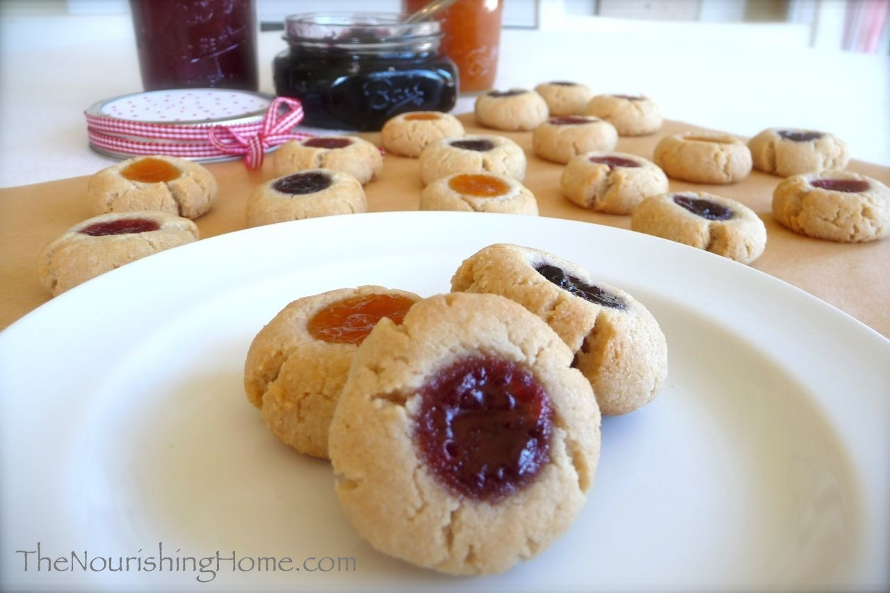 Almond Thumbprint Cookies  Almond Flour Thumbprint Cookies Recipe