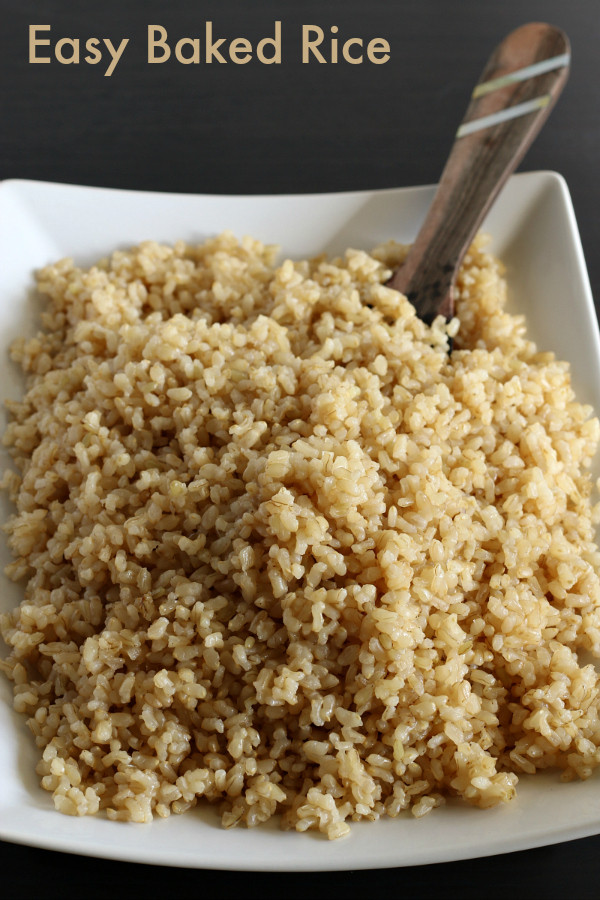 Alton Brown Baked Brown Rice  Easy Baked Brown Rice Gluten free
